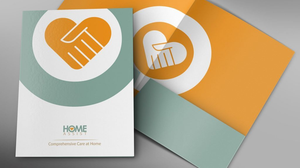 Home Assist home health services folder deisgn